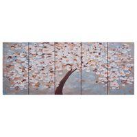 vidaXL seinamaalikomplekt lõuendil, õitsev puu, värviline, 150 x 60 cm
