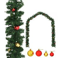 vidaXL jõuluvanik jõulukuulidega 10 m