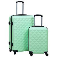 vidaXL kõvakattega kohver 2 tk mündiroheline ABS