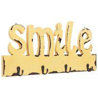 vidaXL seinale kinnitatav riidenagi, SMILE, 50 x 23 cm