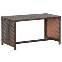 vidaXL kohvilaud, pruun, 70 x 40 x 38 cm, polürotang