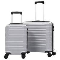 vidaXL kõvakattega kohvrid 2 tk, hõbedane, ABS
