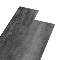 vidaXL PVC-st põrandaplaadid, 4,46 m² 3 mm, läikiv hall