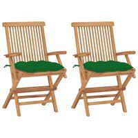 vidaXL aiatoolid roheliste istmepatjadega, 2 tk, tiikpuu