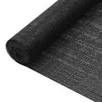 vidaXL privaatsusvõrk, must, 1,8 x 10 m, HDPE, 75 g/m²