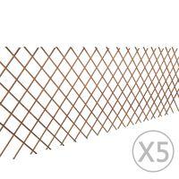 vidaXL pajust võreaed 5 tk, 180 x 90 cm