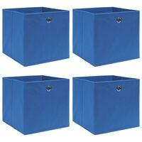 vidaXL hoiukastid 4 tk, sinine, 32 x 32 x 32 cm, kangas