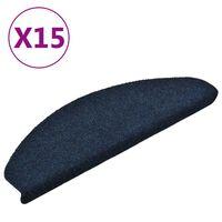 vidaXL isekleepuv trepivaip 15 tk, tumesinine, 65x21x4 cm, aastehnika