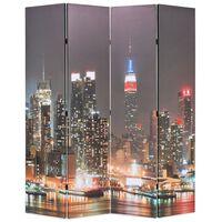vidaXL kokkupandav sirm 160 x 170 cm, öine New York