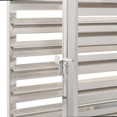 vidaXL köögikäru 16 kandikule, 38x55x163 cm, roostevaba teras