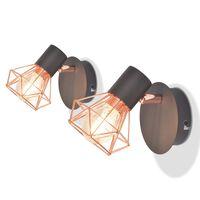 vidaXL seinalambid 2 tk 2 LED-hõõglambiga 8 W
