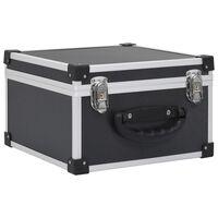 vidaXL CD-kohver 40 CD jaoks, alumiinium, ABS, must