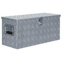 vidaXL alumiiniumist kast 80 x 30 x 35 cm, hõbedane