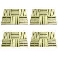 vidaXL 24 tk terrassiplaadid, 50 x 50 cm, puit, roheline