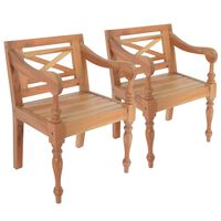vidaXL bataavia toolid, 2 tk, helepruun, mahagonipuit