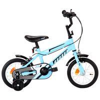 vidaXL laste jalgratas 12'', must ja sinine