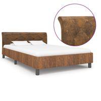 vidaXL voodiraam, pruun, kunstseemisnahast, 140 x 200 cm