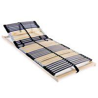 vidaXL voodi aluspõhi, 42 liistu, 7 piirkonda, 90 x 200 cm
