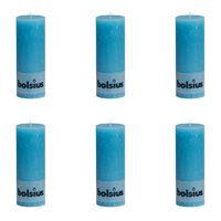 Bolsius maalähedased sammasküünlad 6 tk 190 x 68 mm sinine