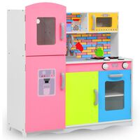 vidaXL laste mänguköök MDF 80 x 30 x 85 cm värviline