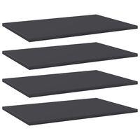 vidaXL riiuliplaadid 4 tk, hall, 60x40x1,5 cm, puitlaastplaat