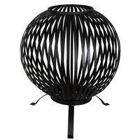 Esschert Design tulealuse pall, triipudega, must, süsinikteras FF400