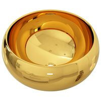 vidaXL valamu 40 x 15 cm, keraamiline, kuldne