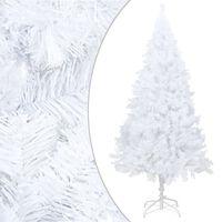vidaXL kunstkuusk paksude okstega, valge, 240 cm, PVC