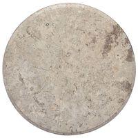vidaXL lauaplaat, hall, Ø 50 x 2,5 cm, marmor