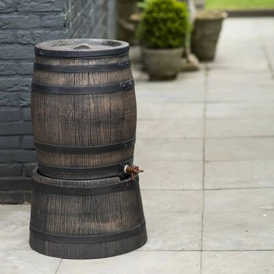 Nature vihmaveepaak puidu välimusega, 50 l, 38 x 49,5 cm, pruun