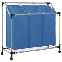 vidaXL pesusorteerija 3 kotiga, sinine, teras