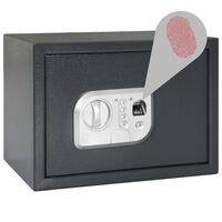 vidaXL digitaalne seif sõrmejäljelugejaga, tumehall, 35 x 25 x 25 cm