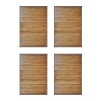 vidaXL bambusest vannimatid 4 tk,  60 x 90 cm, pruun