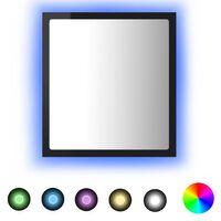 vidaXL LED vannitoa peeglikapp, kõrgläikega must, 40 x 8,5 x 37 cm, puitlaastplaat