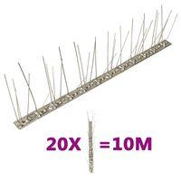 vidaXL 5-realised roostevabast terasest linnupiigid, 20 tk, 10 m