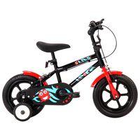 vidaXL laste jalgratas 12'', must ja punane