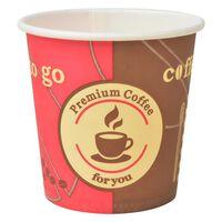 vidaXL ühekordsed kohvitopsid 1000 tk, paberist, 120 ml