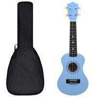 """vidaXL sopran ukulele komplekt kotiga lastele sinine 21"""""""