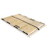 vidaXL voodi aluspõhi, 28 liistu, 7 piirkonda, 100 x 200 cm