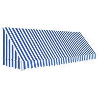 vidaXL bistroo varikatus, 400 x 120 cm, sinine ja valge