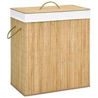 vidaXL bambusest pesukorv, 100 l