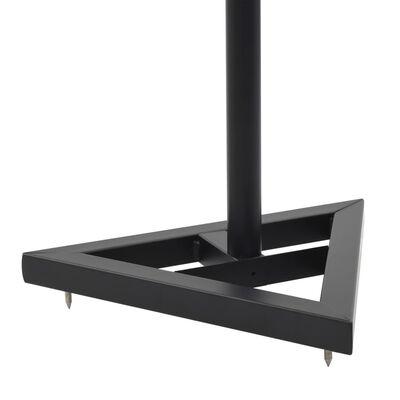 vidaXL stuudiomonitori kõlarialused 2 tk, must, teras