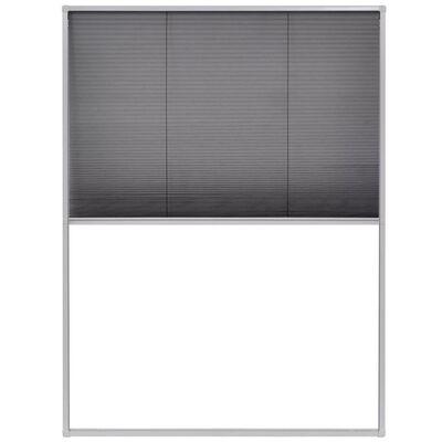 vidaXL plisseeritud putukavõrk aknale, alumiinium, 60 x 80 cm , Valge