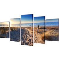 Seinamaalikomplekt rannaliivaga, 100 x 50 cm