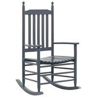 vidaXL nõgusa istmega kiiktool, hall, paplipuidust