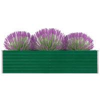vidaXL kõrge peenrakast 320 x 40 x 77 cm, tsingitud teras, roheline