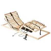 vidaXL elektriline voodi aluspõhi, 28 liistu, 7 piirkonda, 90 x 200 cm