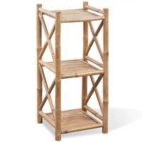 3 tasapinnaga kandiline bambusriiul