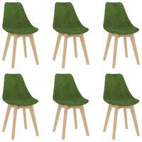 vidaXL Dining Chairs 6 pcs Light Green Velvet (289156+289157)