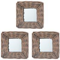 vidaXL peeglid 3 tk, 15 x 15 cm, vitsad